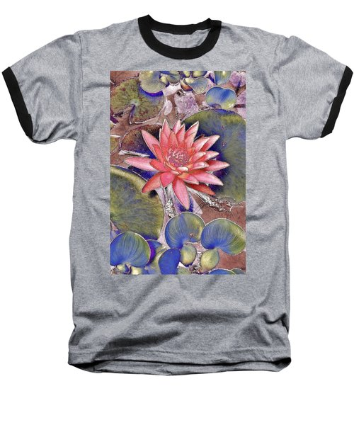 Beautiful Pink Lotus Abstract Baseball T-Shirt