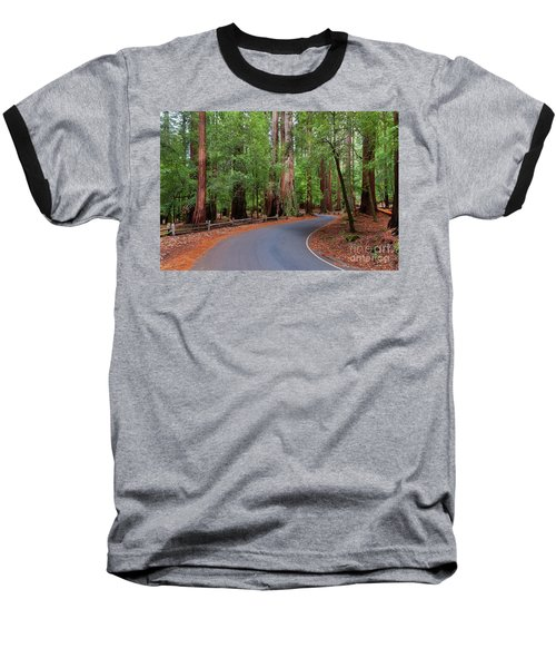 Beautiful Redwood Grove Baseball T-Shirt