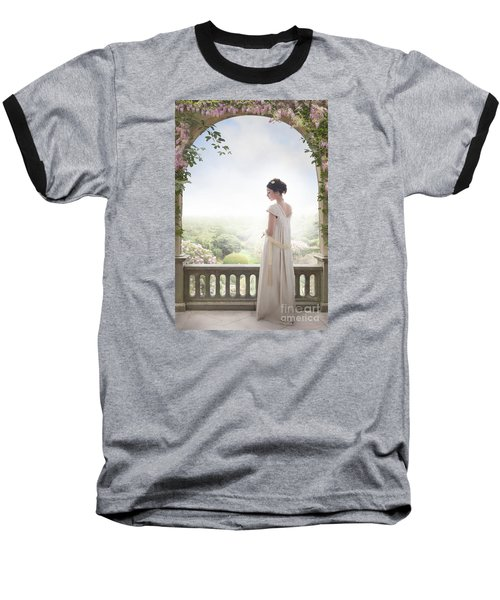 Beautiful Regency Woman Beneath A Wisteria Arch Baseball T-Shirt