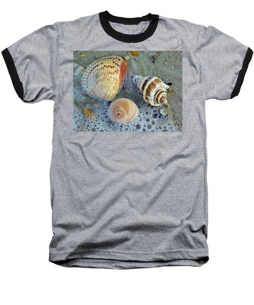 Beautiful Shells In The Surf Baseball T-Shirt