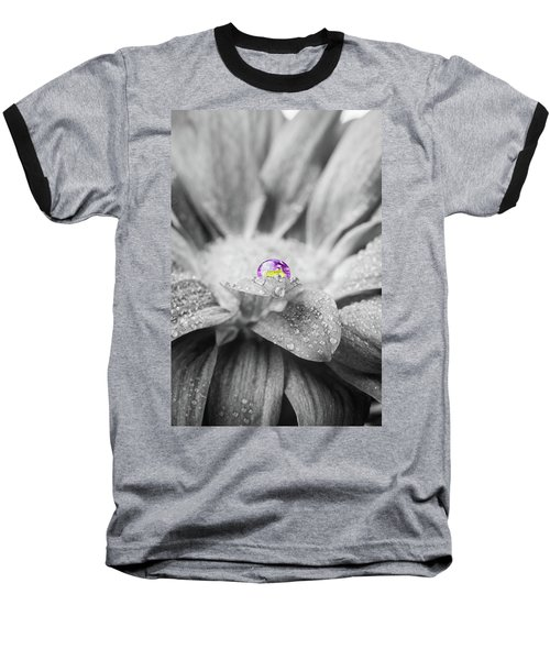 Beautiful Splash Of Purple On A Daisy In The Garden Baseball T-Shirt
