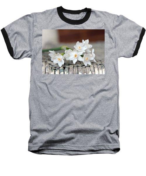 Beautiful Spring Paperwhites Baseball T-Shirt by Carla Parris