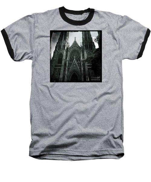 Beautiful St Patricks Cathedral Baseball T-Shirt by Miriam Danar
