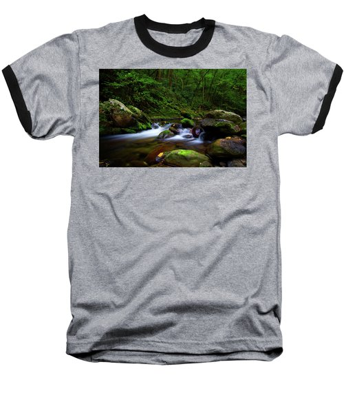 Beautiful Stream In Tremont Smoky Mountains Tennessee Baseball T-Shirt