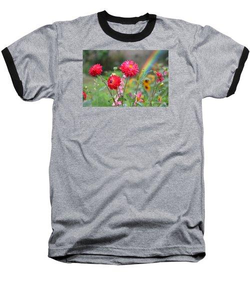 Beautiful Summer Flowers Baseball T-Shirt by Jim Fitzpatrick