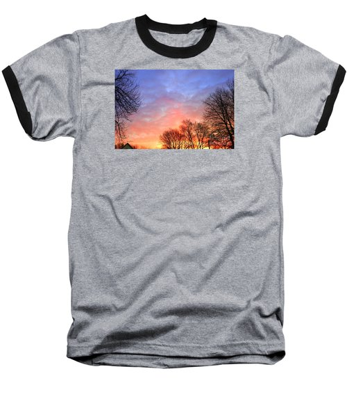 Beautiful Sunrise After Blizzard  Baseball T-Shirt