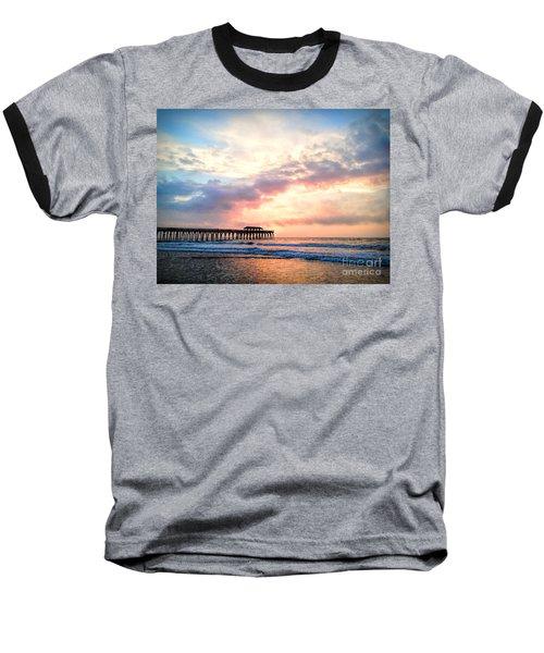Beautiful Sunrise In Myrtle Beach South Carolina Usa Baseball T-Shirt by Vizual Studio
