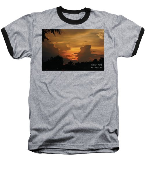Beautiful Sunset Baseball T-Shirt by Debra Crank