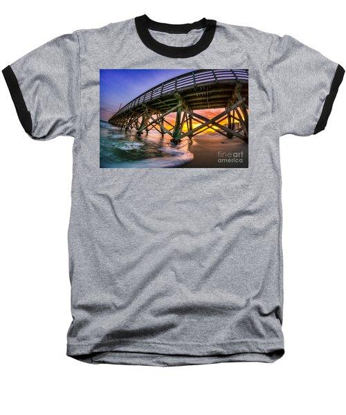 Beautiful Sunset In Myrtle Beach Baseball T-Shirt by David Smith