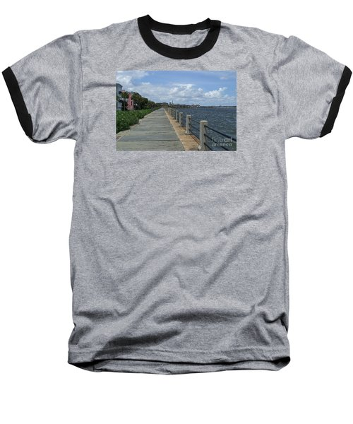 Beautiful Waterfront Walkway Baseball T-Shirt