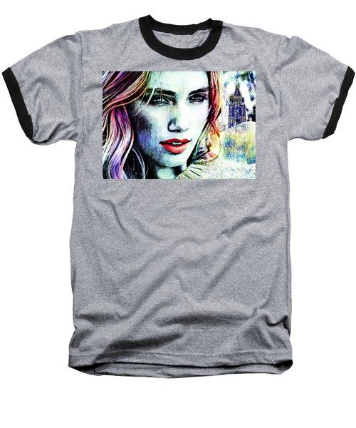 Beautiful Woman Baseball T-Shirt by Zedi