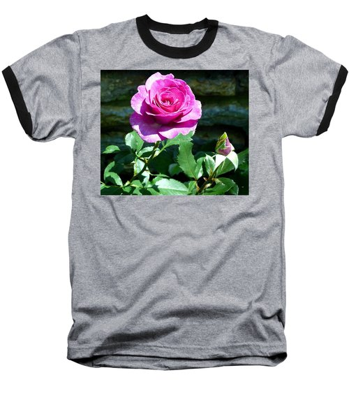 Baseball T-Shirt featuring the photograph Beauty And The Bud by Will Borden