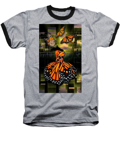 Baseball T-Shirt featuring the mixed media Beauty In All Things by Marvin Blaine