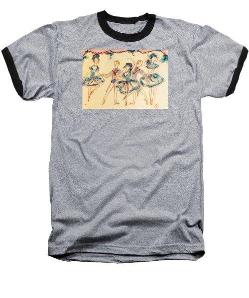 Beauty In Blue Ballet  Baseball T-Shirt by Judith Desrosiers