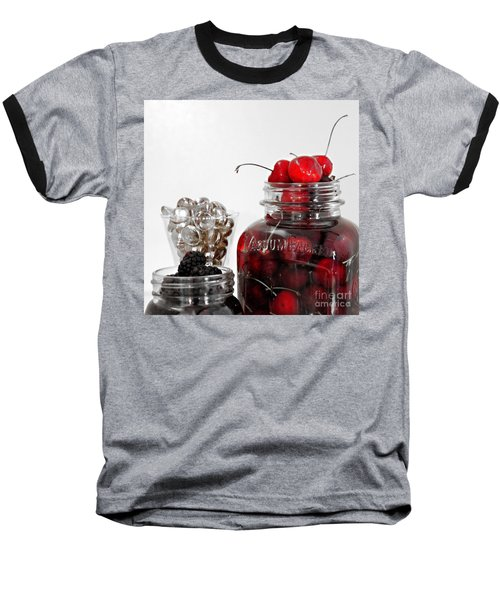 Beauty Of Red Cherries Baseball T-Shirt by Sherry Hallemeier