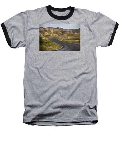 Beauty Of The Badlands South Dakota Baseball T-Shirt by John Hix