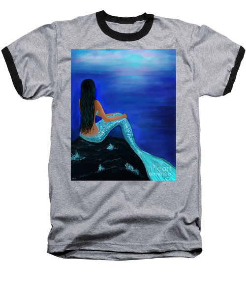 Baseball T-Shirt featuring the painting Beauty Of The Isle by Leslie Allen