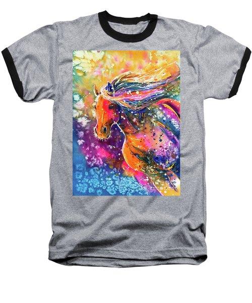 Baseball T-Shirt featuring the painting Beauty Of The Prairie by Zaira Dzhaubaeva