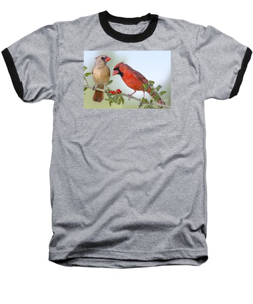 Beauty On A Branch Baseball T-Shirt by Bonnie Barry