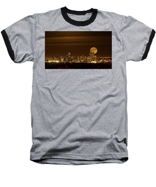 Baseball T-Shirt featuring the photograph Beaver Moonrise by Kristal Kraft