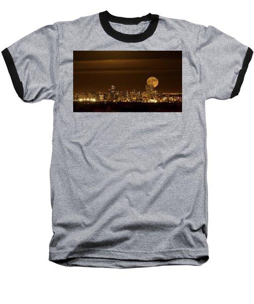 Beaver Moonrise Baseball T-Shirt