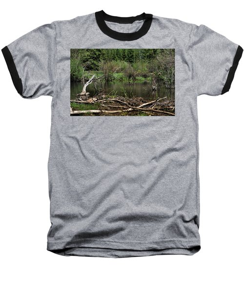 Baseball T-Shirt featuring the photograph Beaver Pond by Ron Cline