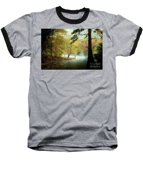 Beavers Bend Creek In Fall Baseball T-Shirt by Iris Greenwell