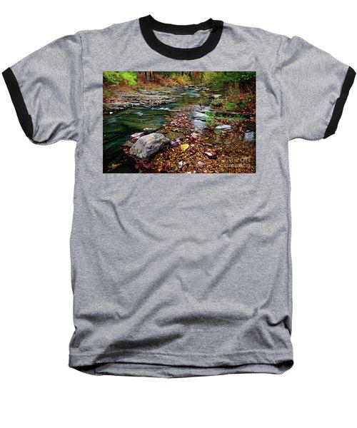 Beaver's Bend Tiny Stream Baseball T-Shirt
