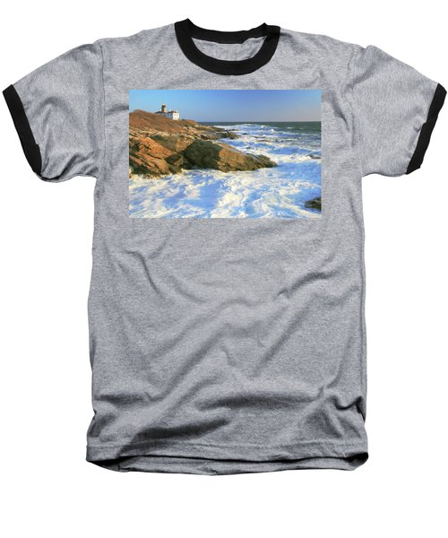 Beavertail Point And Lighthouse  Baseball T-Shirt