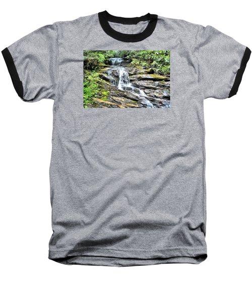 Becky Branch Falls In Summer Baseball T-Shirt by James Potts
