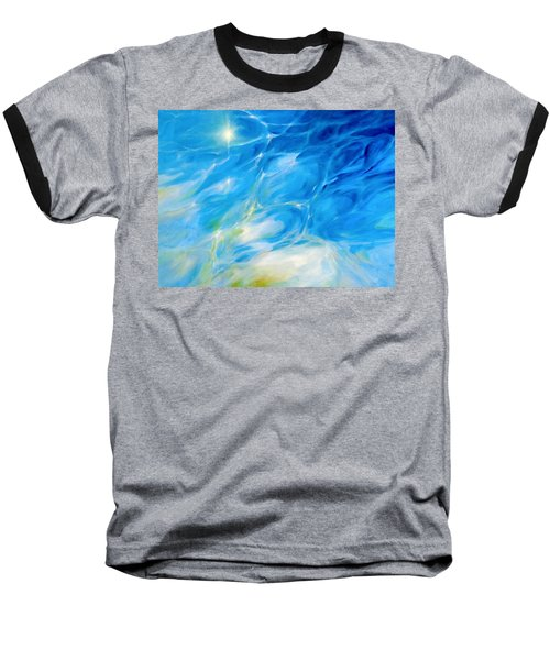 Baseball T-Shirt featuring the painting Becoming Crystal Clear by Dina Dargo