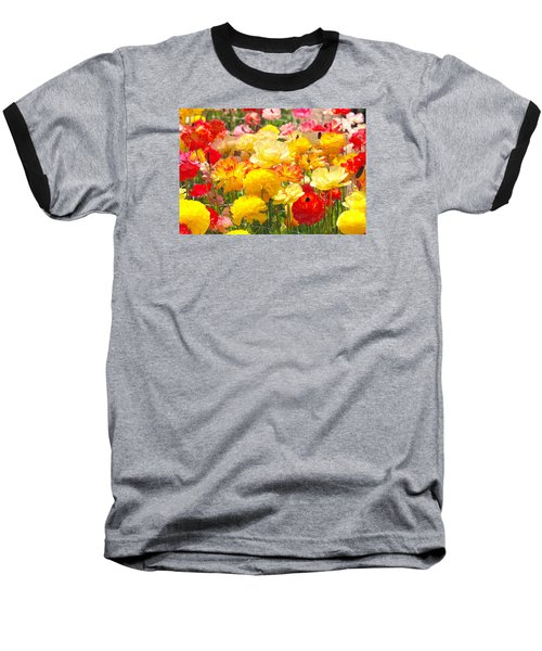 Bed Of Flowers Baseball T-Shirt