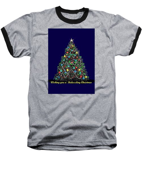 Bedazzled Christmas Card Baseball T-Shirt by R  Allen Swezey