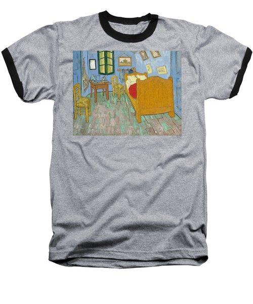 Baseball T-Shirt featuring the painting Bedroom At Arles by Van Gogh