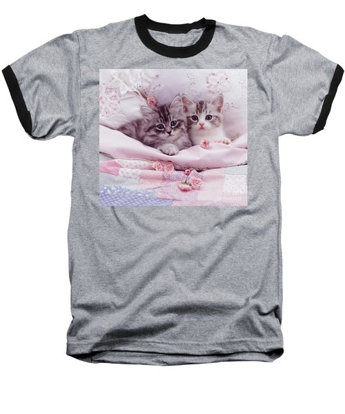 Bedtime Kitties Baseball T-Shirt