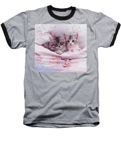 Bedtime Kitties Baseball T-Shirt