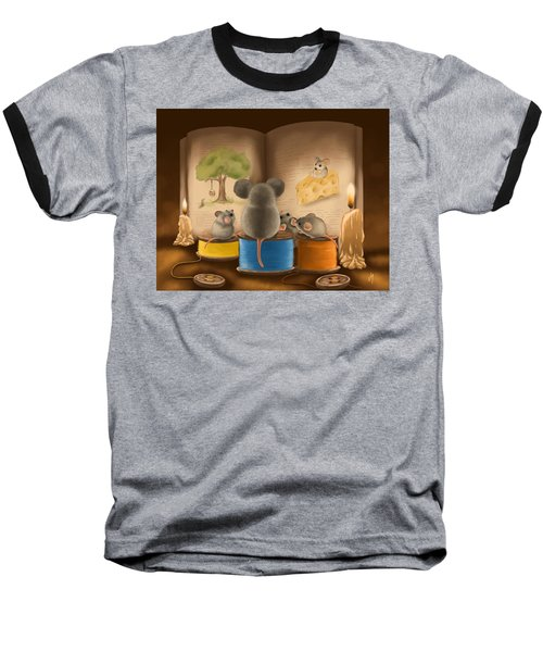 Baseball T-Shirt featuring the painting Bedtime Story by Veronica Minozzi