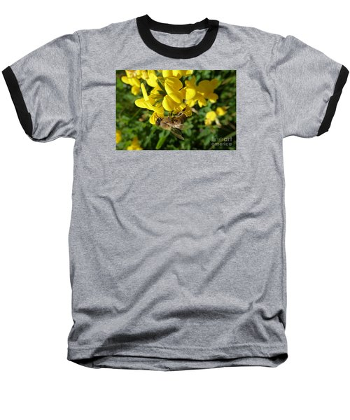 Bee And Broom In Bloom Baseball T-Shirt