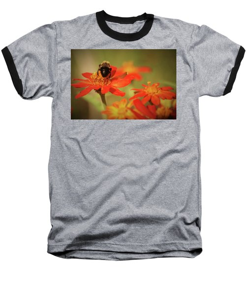 Baseball T-Shirt featuring the photograph Bee And Flower IIi by Donna G Smith