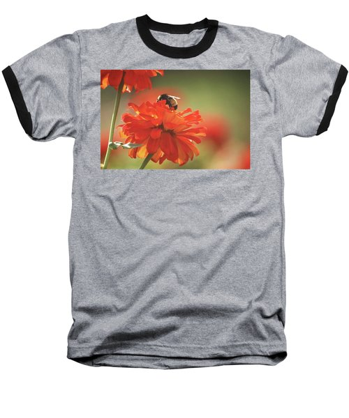 Baseball T-Shirt featuring the photograph Bee And Flower Iv by Donna G Smith