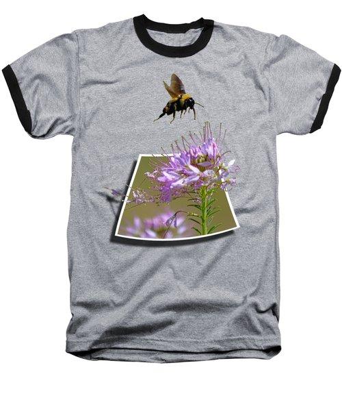 Bee Free Baseball T-Shirt by Shane Bechler