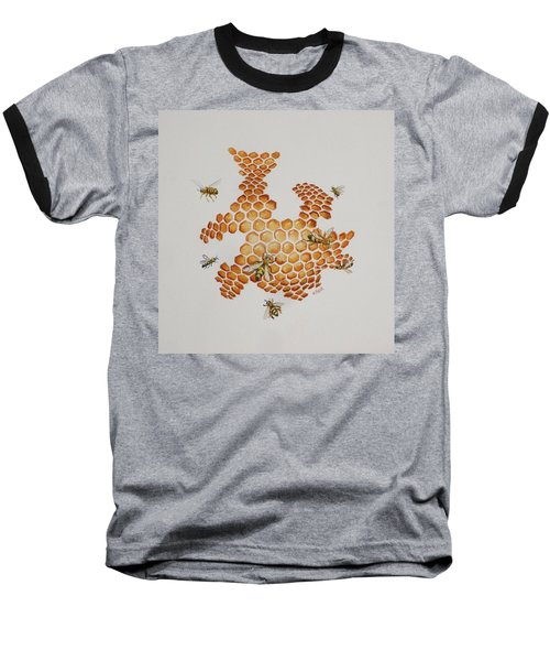 Baseball T-Shirt featuring the painting Bee Hive # 1 by Katherine Young-Beck