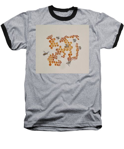 Baseball T-Shirt featuring the painting Bee Hive # 3 by Katherine Young-Beck