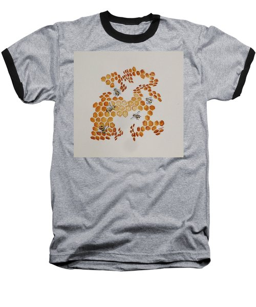Baseball T-Shirt featuring the painting Bee Hive # 5 by Katherine Young-Beck