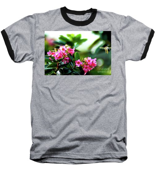 Baseball T-Shirt featuring the photograph Bee In Flight by Micah May