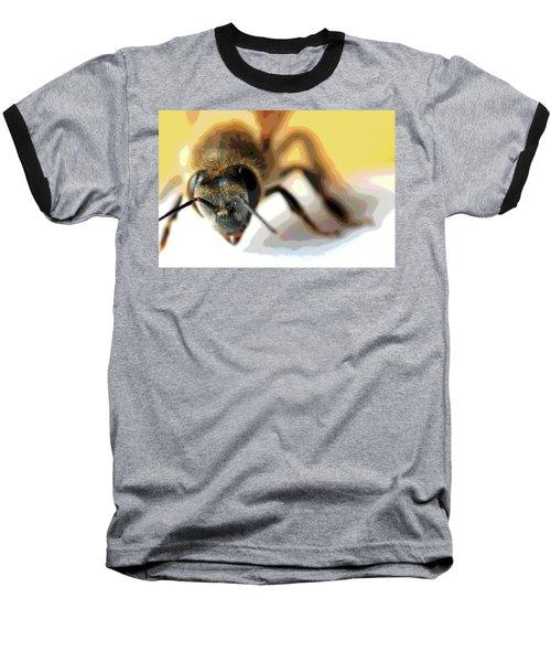 Bee In Macro 5 Baseball T-Shirt by Micah May