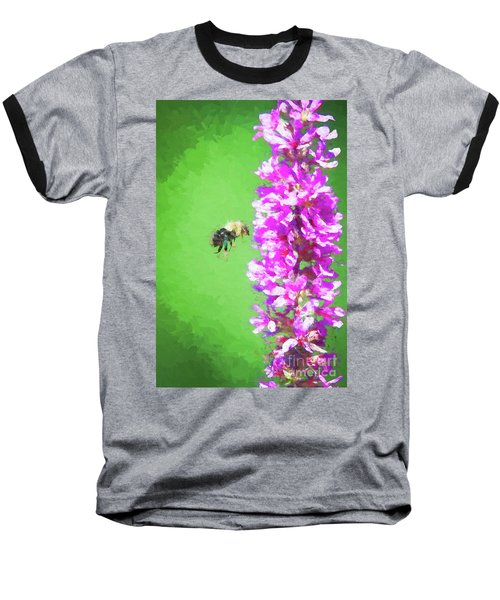 Bee Kissing A Flower Baseball T-Shirt