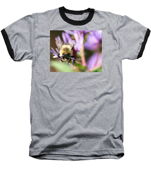 Bee Mustache Baseball T-Shirt