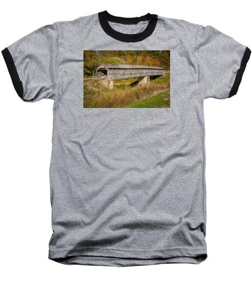 Beech Fork Or Mooresville Covered Bridge Baseball T-Shirt