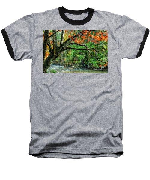 Beech Tree And Swinging Bridge Baseball T-Shirt